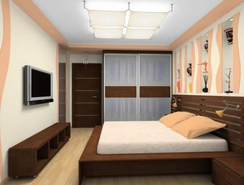 Дизайн спальни 17 метров фото в современном стиле - 63