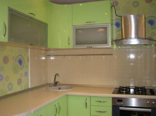 Интерьер кухни венге